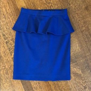 Club Monaco Blue Peplum Skirt